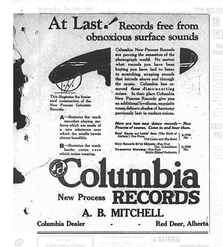 Advertisement for Columbia Records