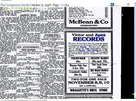 Victor and Apex Records Advertisement, 1928