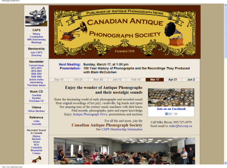 The Canadian Antique Phonograph Society