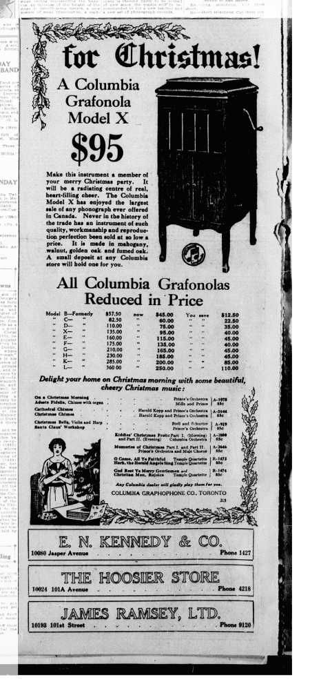 Columbia Grafonola Phonograph Advertisement