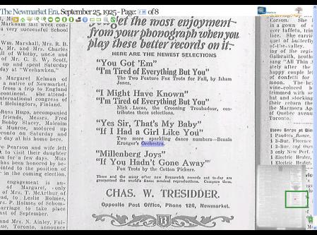 Brunswick Record Advertisement, 1925