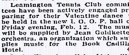 Jean Goldkette's Orchestra in Leamington Ontario, 1926