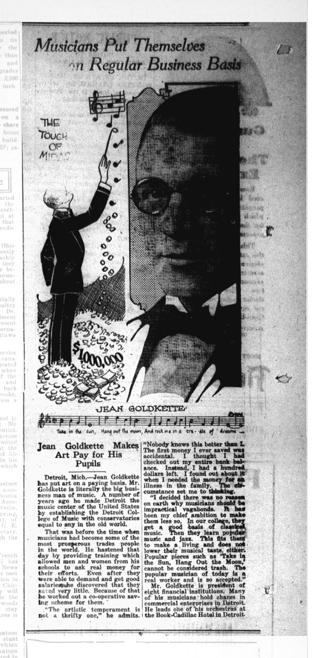 A 1927 Newspaper Article about Jean Goldkette