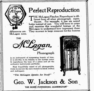 McLagan Phonograph Ad-The Leamington Post November 3, 1921