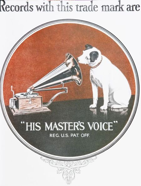 Victor Records Advertisement in Color