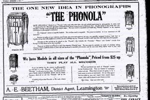 Phonola Phonograph Ad-The Leamington Post December 5, 1918