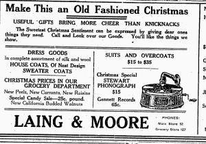 Stewart Phonograph Ad-The Essex Free Press, December 9, 1921
