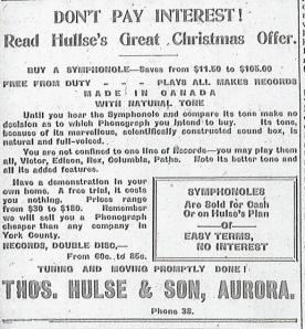 Symphonole Phonograph Ad-The Newmarket Era November 30, 1917