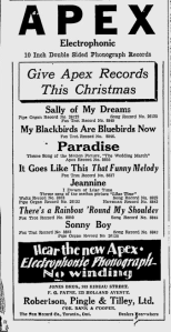 -apex records december 1928 ottawa citizen