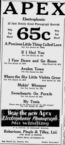 -apex records ottawa citizen 1929-2