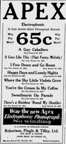 -apex records ottawa citizen 1929