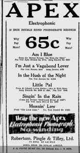 -apex records ottawa citizen september 1929