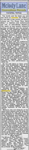 -Columbia and Brunswick Records Calgary Herald 1931