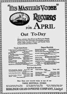 -hmv records april 1,1920 montreal gazette