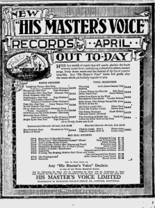 -hmv records april 1,1921 montreal gazette