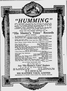 -hmv records april 4,1921 montreal gazette