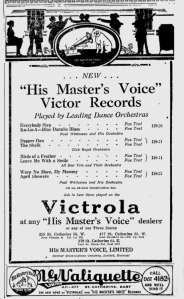-hmv records jan 28th,1922 montreal gazette