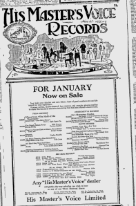 -hmv records jan 3, 1921 montreal gazette