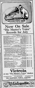 -hmv records july 2,1921 montreal gazette