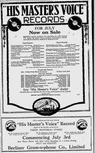 -hmv records july 3,1920 montreal gazette