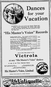 -hmv records july 6,1921 montreal gazette