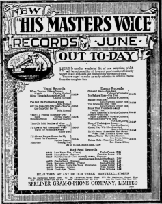 -hmv records june 1,1920 montreal gazette