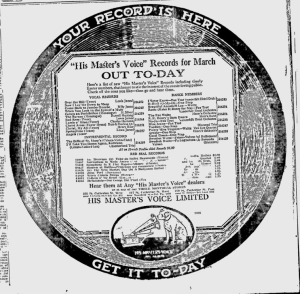 -hmv records march 1, 1921 montreal gazette