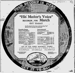 -hmv records march 1st 1920 montreal gazette