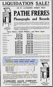 -pathe phonographs and records 1921