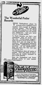 -Pathephone and Pathe Records 1918