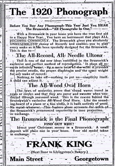 The 1920 Phonograph Advertisement-Brunswick Ultona