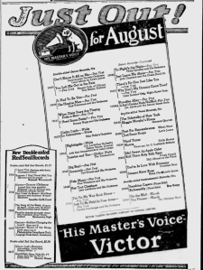 -victor records august 1,1924 montreal gazette