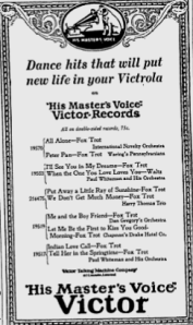 -victor records march 6,1925 montreal gazette