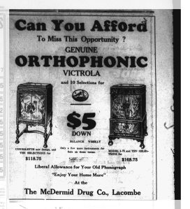Victrola Advertisement-Western Globe April 11, 1929