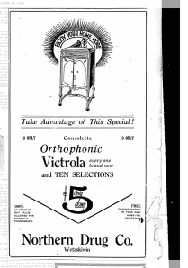 Victrola Advertisement-Wetaskiwin Times March 28, 1929