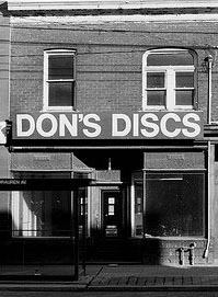 Don's Discs at 1576 Queen St West at Sorauren in 1978.