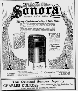 -sonora phonograph december 3,1920 montreal gazette