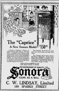 -Sonora Phonograph Feb 1920 Ottawa Citizen