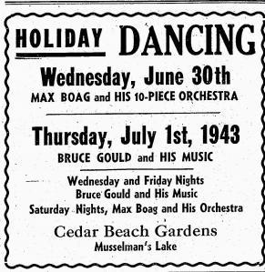 Max Boag Orchestra 1943, Stouffville Sun-Tribune