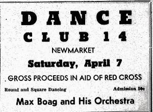 Max Boag Orchestra, April 5, 1951 Newmarket Era