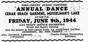 Max Boag Orchestra, Stouffville Tribune, June 8, 1944
