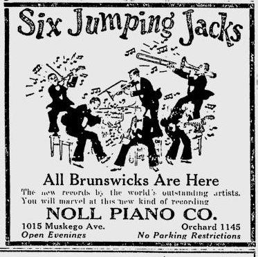 Six Jumping Jacks Brunswick Newspaper Advertisement