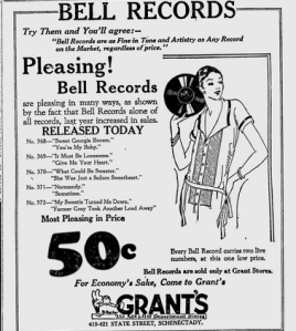 Schenectady Gazette   Google News Archive Search-bell records feb 1925