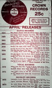 old fulton ny post cards-amsterdam democrat and record march 20, 1931 crown record ad.