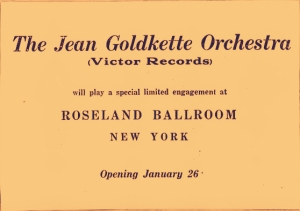 old fulton ny post cards-jean goldkette variety jan 20,1926.
