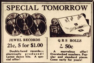 old fulton ny post cards-jewel records buffalo evening news sept. 25, 1928.