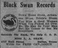 The Dallas Express  Dallas  Tex.   Vol. 29  No. 40  Ed. 1 Saturday  July 22  1922  Sequence  8   The Portal to Texas History-black swan