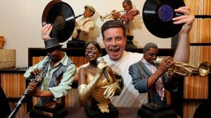 Brampton music afficianado Ken McPherson with his collection of thousands of 78 rpm records, many from his favourite jazz eras - the 1920s and 1930s.